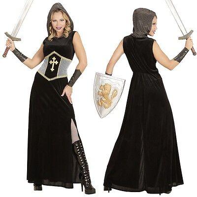 Krieg Kostüm (DAMEN KOSTÜM KRIEGERIN Mittelalter Kleid Jeanne d' Arc Kämpferin XS,S, M, L, XL)