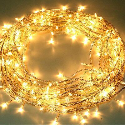 10m Warmweiß LED Lichterkette Weihnachten Party Dekoration Beleuchtung Dekodraht