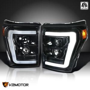 [Jet Black] 2011-2016 Ford F250 F350 F450 SuperDuty LED Projector Headlights
