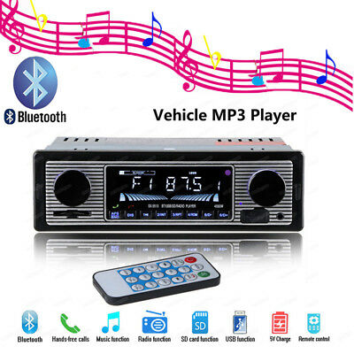 Car Radio Player Bluetooth Retro LCD Bildschirm Autoradio MP3/USB/SD/AUX-IN FM