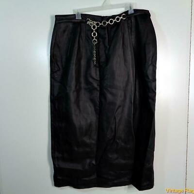 RESOURCE Soft Faux Leather Skirt Size 20 Black