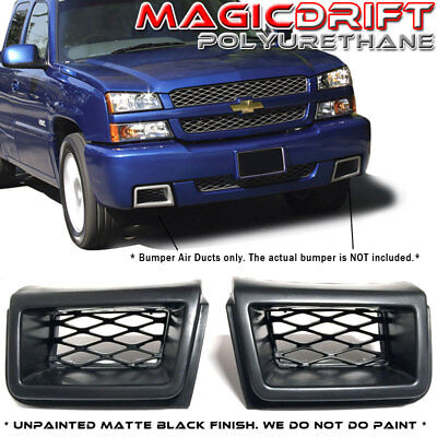 For 03-07 Chevy Silverado 1500 Front Bumper Brake Air Ducts SS style PAIR Black