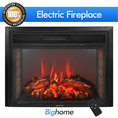 2019 Embedded 28'' Electric Fireplace Adjustable Flame Insert Heater - Contemporary Freestanding Fireplace