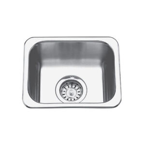 Kindred QS1113/6 11 x 13 Single Bowl Bar Sink