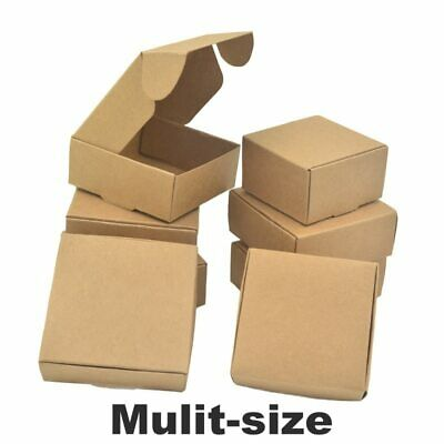 Brown Kraft Paper Box Wedding Favor Gift Candy Jewelry Handmade Soap Packing Box