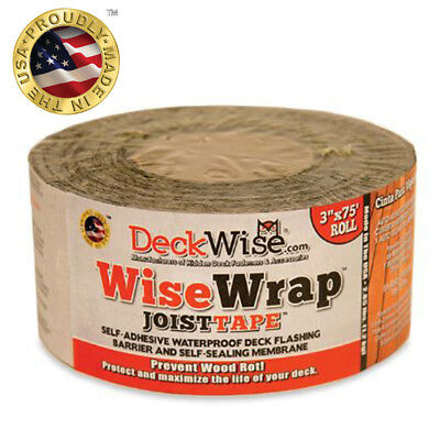 "DeckWise Joist Tape WiseWrap Self Adhesive Deck Flashing Tape - 3"" x 75' Roll"