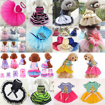Cute Pet Cat Dog Tutu Lace Dress Skirt Puppy Princess Costume Apparel Clothes ](Cute Dog Costume)