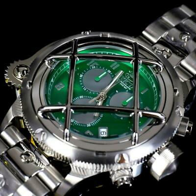 Invicta Russian Diver Nautilus Caged Swiss Mvt Steel Green 52mm Chrono Watch -