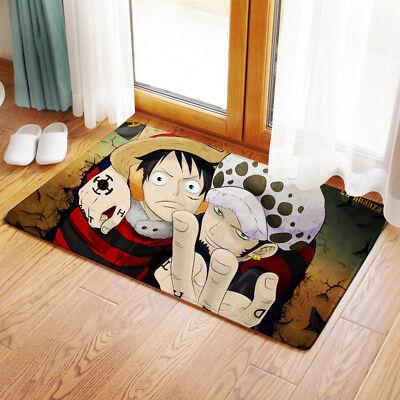 Neu Trafalgar Law Luffy One Piece Matte Toilette Vorleger Teppich