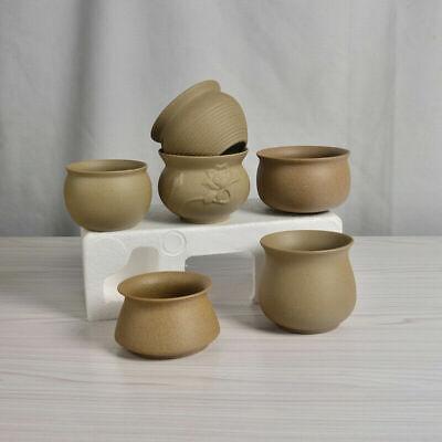 Round Plain Color Ceramics Chinese Bonsai Mini Flower Pot Home Decoration USA - Mini Pots