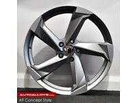 "19"" A9 Twist style alloy Wheels & Tyres (5x112) Audi A3,A4 VW MK,6,7, Golf, Caddy, Jetta, Seat"