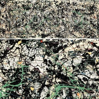 """54""""x21"""" LUCIFER 1947 by JACKSON POLLOCK MASTERS Repro CANVAS"""