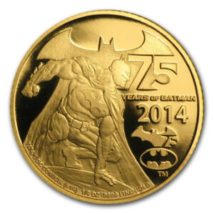 Batman 75th Anniversary Gold Coin 2014 - Better than Superman