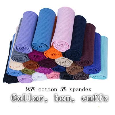 (Cotton Stretch Knit Sweater Jacket Waistband Cuffs Legs Ribbed Trim Rib Fabric)