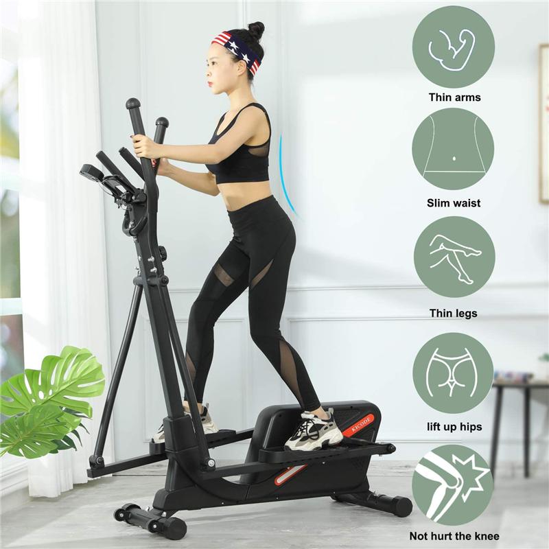 Magnetic Elliptical Machine Cardio Fitness Equipment Adjusta