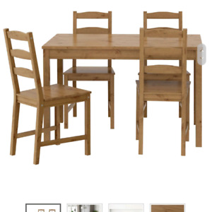 Ikea Dining Room Table & 4 Chairs