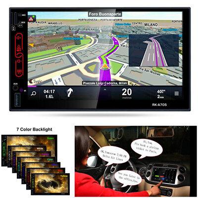 Car Gps Navi 7 Quad Core Android 6 0 Mirror Double 2Din Stereo Wifi Radio Camera