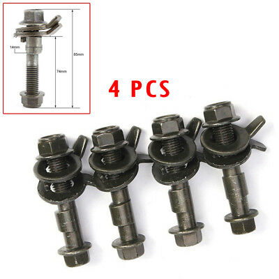 4PCS 14mm Steel Car Four Wheel Alignment Adjustable Camber Bolts 10.9 (Smart Camber)