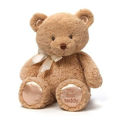 "Gund My First Teddy Bear tan Baby Stuffed Animal 15"" Updated 4043978 NEW"