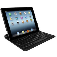 Black 80 Key Removable Bluetooth Keyboard with PU Leather Case