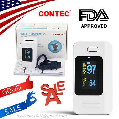 USA,CONTEC Finger Pulse Oximeter SPO2 Pulse Heart Rate Patient O2 Monitor,FDA