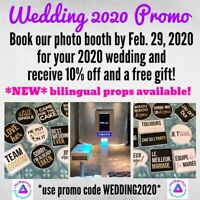 Photo Booth for weddings, birthdays, grads & more