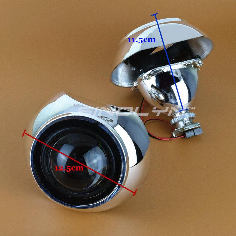 mini hid 2 5 u0026quot  bi xenon projector lens kit w  iris shrouds