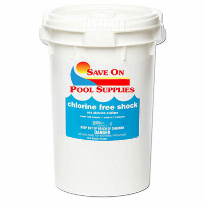 40 Lbs SOPS Chlorine-Free Pool Shock For Swimming Pool (1 x 40 lb Pail) Chlorine Free Pool Shock