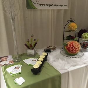Fruit carvings ,dessert table displays Windsor Region Ontario image 3