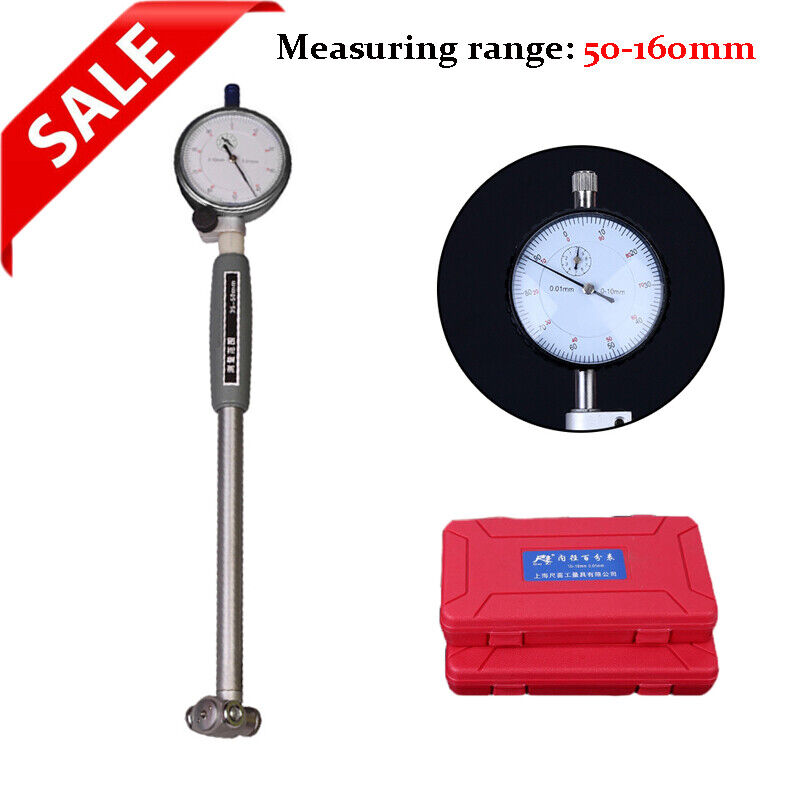 Accurate Dial Bore Gauge 50-160mm Hole Indicator Measuring Engine Gage Cylinder