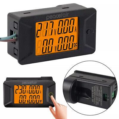 Ac 40-400v 100a Digital Voltage Current Power Factor Meter Voltmeter Amperemeter