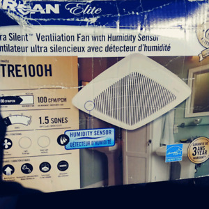 BRAND NEW Broan QTRE100H VENTILATION FAN W/ HUMIDITY SENSOR