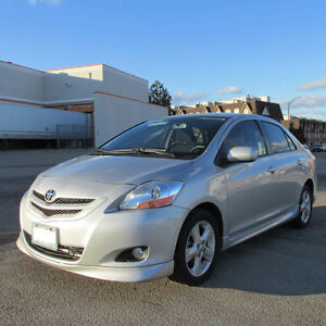 2008 Toyota Yaris AERO/Sport Sedan LOW KM CARPROOF