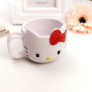 Hello Kitty Tooth Brush Cup Mug Toothbrush Handle Holder Red For Kids
