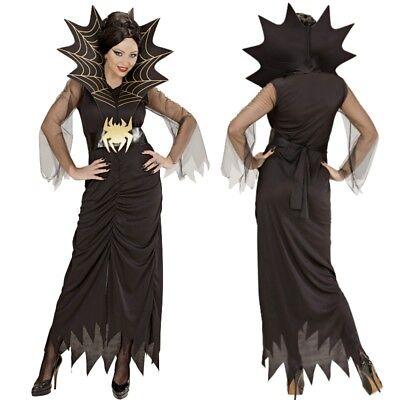 Schwarze Witwe SPIDER LADY 36/38 (S) SPINNEN Damen Kostüm Halloween (Spider Lady Kostüm)