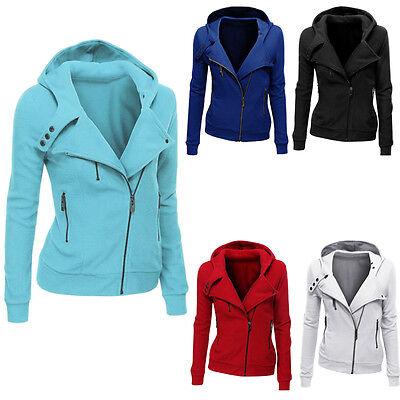 Women Fashion Winter Hooded Slim Coat Jacket Tops Casual Warm Sportwear Outwear