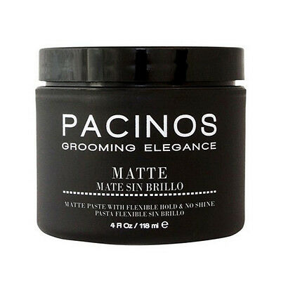 Pacinos Hair Grooming Matte Paste Flexible Hold & No Shine 4 oz