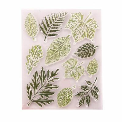 Leaf Silicone Clear Seal Stamp DIY Scrapbooking Embossing Photo Album Decorative - Leaf Stamp