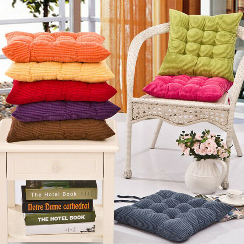 Details about NEW SEAT PAD DINING ROOM GARDEN KITCHEN CHAIR CUSHIONS WITH  TIE ON