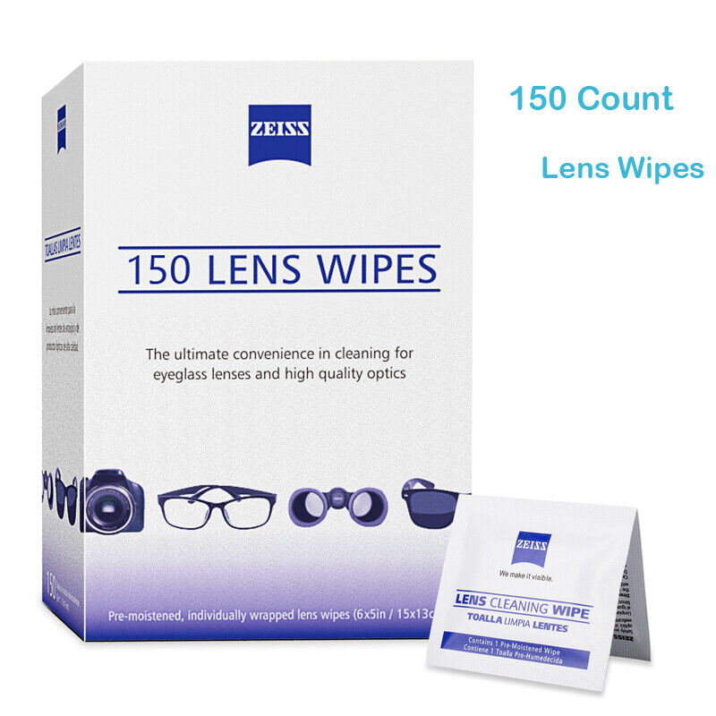 Zeiss Lens Cleaning Wipes 150 CT Lens LCD LED Screen Optical Camera Cleaning