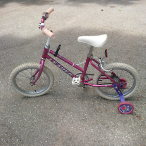 GIRL'S BIKE / BICYCLE - Great Condition - Plus Training Wheels