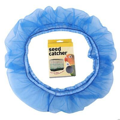 Bird Cage Seed Catcher Seeds Guard Parrot Mesh Net Cover Stretchy Shell DD ()