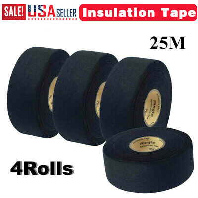 4rolls 25m Adhesive Cloth Fabric Electrical Wiring Harness Loom Insulation Tape