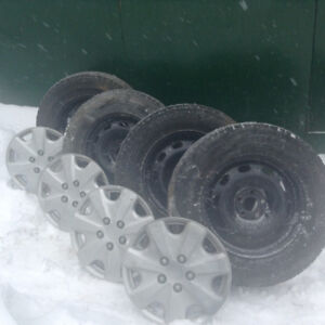 For Sale four winter tires on steel rims