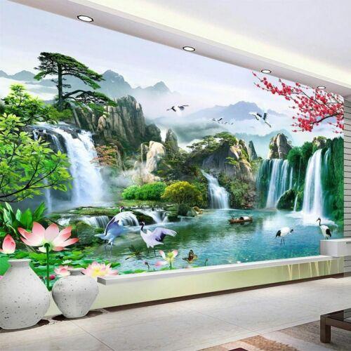 3D Living Room Wallpaper Moisture-Proof Wall Mural Bedroom Waterfall Wallpapers