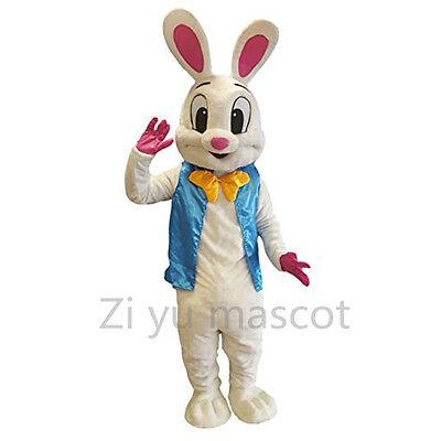 Adult Easter Bunny Mascot Costume Rabbit Animal Cartoon Fancy Dress Halloween US - Adult Easter Dresses