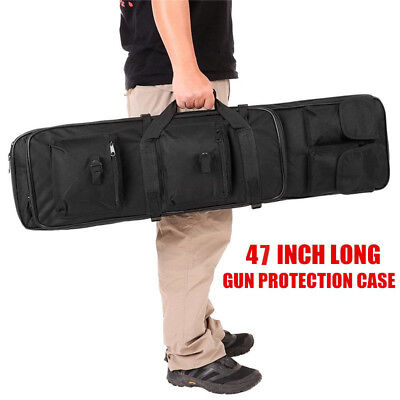 "CVLIFE 47"" Long Black 600D Soft Padded Gun Case AR Hunting Bag Rifle (Ar Hunting Rifles)"