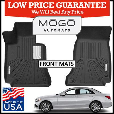 Mogo  By Husky Front Luxury Floor Mats 2014 18 Mercedes Benz C Class Sedan Black