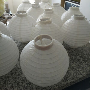 White paper lanterns wedding decor Kitchener / Waterloo Kitchener Area image 1