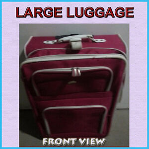 BIG RED LUGGAGE IN GOOD CONDITION - REASONABLY PRICED